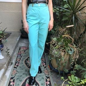 Vintage aquamarine St. John Sport pants